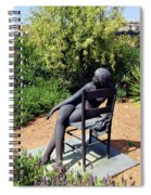 Woman On A Chair Spiral Notebook