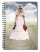 Woman On A Street Spiral Notebook