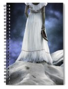 Woman On Rocks Spiral Notebook
