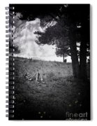 Woman On The Hill Spiral Notebook