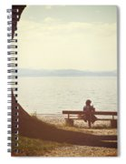 Woman On The Shore Of A Lake Spiral Notebook