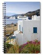 Woman On The Terrace - Mykonos Spiral Notebook