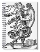 Woman Playing The Harp Spiral Notebook