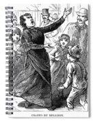 Woman Preaching, 1888 Spiral Notebook