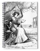 Woman Reading, 1876 Spiral Notebook