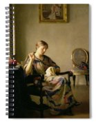 Woman Sewing Spiral Notebook