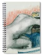Woman Washing In The Bath Spiral Notebook