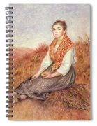 Woman With A Bundle Of Firewood Spiral Notebook