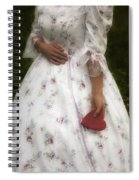 Woman With A Heart Spiral Notebook