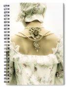 Woman With Bonnet Spiral Notebook