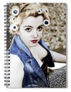 Woman With Curlers Spiral Notebook