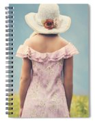 Woman With Hat Spiral Notebook