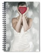 Woman With Heart Spiral Notebook