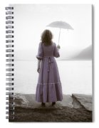 Woman With Parasol Spiral Notebook