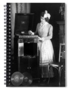 Woman With Phonograph 1908 Spiral Notebook