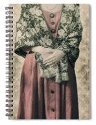 Woman With Shawl Spiral Notebook