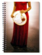 Woman With Straw Hat Spiral Notebook