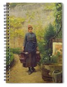 Woman With Watering Cans Spiral Notebook