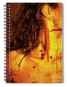 Woman With Words And Numbers Spiral Notebook