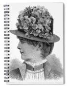 Womans Hat, 1883 Spiral Notebook
