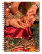 Women With Decorated Hands Holding Hands In A Hindu Religious Ceremony Spiral Notebook