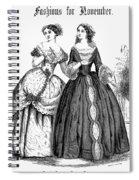 Womens Fashion, 1851 Spiral Notebook