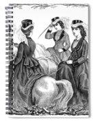 Womens Fashion, 1870 Spiral Notebook