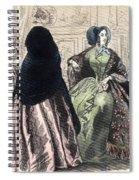 Womens Fashion, C1850 Spiral Notebook