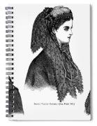 Womens Hats, 1868 Spiral Notebook