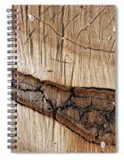 Wood Design Spiral Notebook
