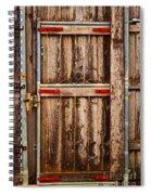 Wood Fence Door Spiral Notebook