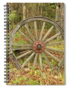 Wood Spoked Wheel Spiral Notebook