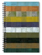 Wooden Abstract L Spiral Notebook