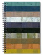 Wooden Abstract Lv Spiral Notebook