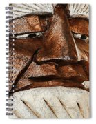Wooden Head With Cigarette Spiral Notebook