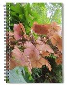 Wooden Hydrangea Spiral Notebook