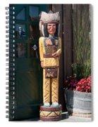 Wooden Indian Spiral Notebook