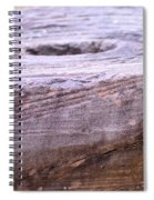 Wooden Ring Abstract Spiral Notebook