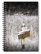 Wooden Sign In Winter By The Yankee Springs Recreation Area In Michigan Spiral Notebook