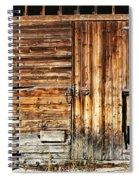 Wooden Slats Barn Spiral Notebook