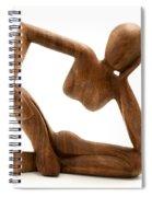 Wooden Statue Spiral Notebook