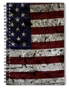 Wooden Textured Usa Flag2 Spiral Notebook