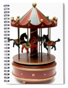 Wooden Toy Carousel Spiral Notebook