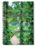 Wooden Trellis And Vines Spiral Notebook
