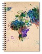 World Map 2 Spiral Notebook
