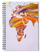 World Map Abstract Painted Spiral Notebook