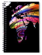 World Map Abstract Painting 2 Spiral Notebook