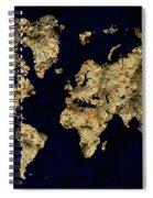 World Map Rock Spiral Notebook