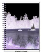 Worlds Smallest Chapel Church Negative Inverted Image Spiral Notebook