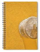 Worn Brass Spigot  Of Medieval Europe Spiral Notebook